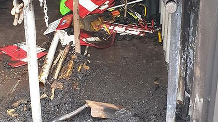 Dagenham Rugby Club is counting the cost after an equipment storage container was set alight. Pictur