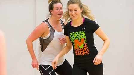 Two women playing netball (pic Sport England)