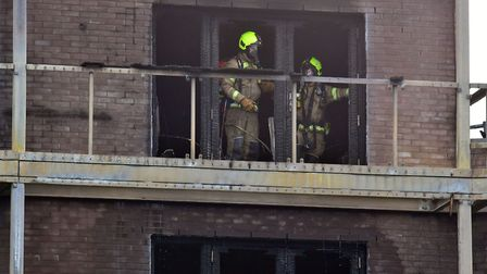 Firefighters at the scene. Picture: Dominic Lipinski/PA Wire