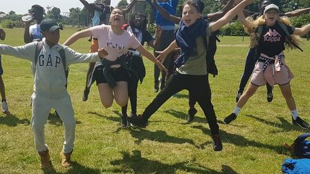 All Saints Catholic School year 7 Pupils during a retreat and team building day. The school has been