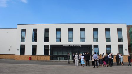 The Mick Fox Building was officially opened today. Picture: Daniel Bentum Ocran