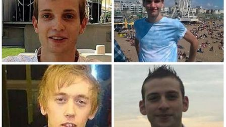 Stephen Port's victims clockwise from top left: Gabriel Kovari, Daniel Whitworth, Jack Taylor and A