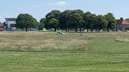 Police were called to Parsloes Park on Saturday following reports of a serious sexual assault. Pictu