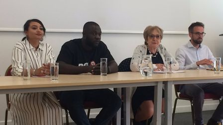 Social policy worker Iram Ali, Box Up Crime's Stephen Addison, Barking MP Margaret Hodge and People'