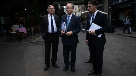 Counsel for the Metropolitan Police Richard Horwell QC, chief coroner Mark Lucraft QC and counsel fo