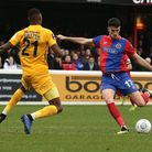 Conor Wilkinson in action for Dagenham & Redbridge against Leyton Orient during the 2018/19 National