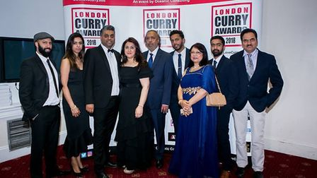 Some of the winners from last year's awards. Pic: Facebook/London Curry Awards