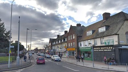 A 14-year-old boy was targeted at a Woodward Road takeaway by thugs who threatened to stab him befor