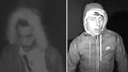 Essex Police want to speak to two men after a burglary in the town of Wickford left a stolen Mercede