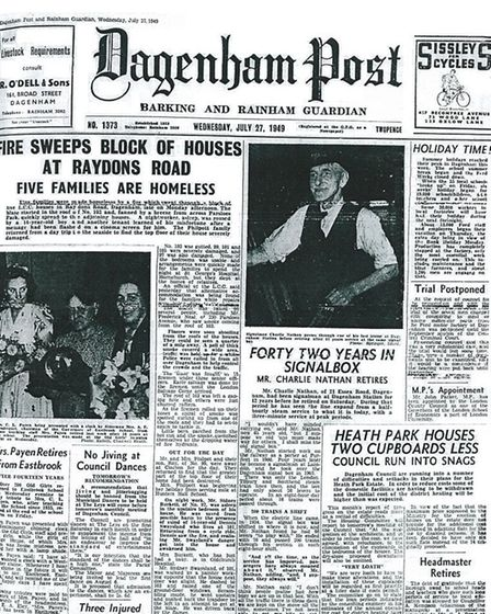 70 years ago... our front page, July 27, 1999