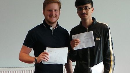 Sam Stallabrass and Rahmaan Bashir have both achieved the Engineering Technical Baccalaureate. Pictu