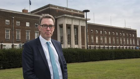 Andy Ginn, associate pro-vice chancellor of CU London, outside the Dagenham campus. Picture: Paul Ta