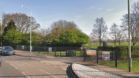 The teenager was stabbed near the entrance to Central Park, Dagenham. Picture: Google Maps
