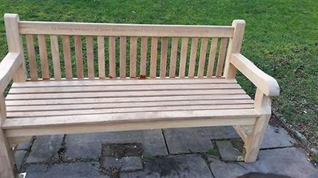 The bench dedicated to ex-council caretaker John Bloom. Picture: Michelle Grant.