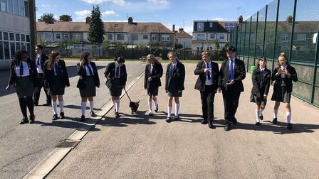 Students have been keen to walk the new addition to the school since he joined in the new academic y