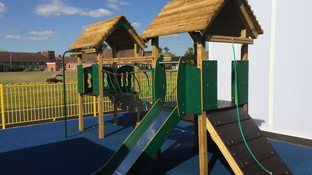 The new climbing frame. Picture: Sophie Morton