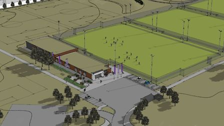Artist's impression of the new Parsloes Park football facility. Picture: essexfa.com