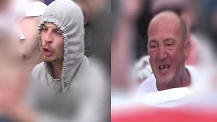 Mark Ransome and John Cummings have both been jailed for violent disorder. Picture: Met Police
