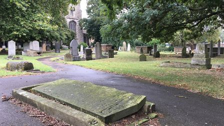 Ian Wilson's search for ancestors led him to this grave in the middle of a path in St Margaret's chu