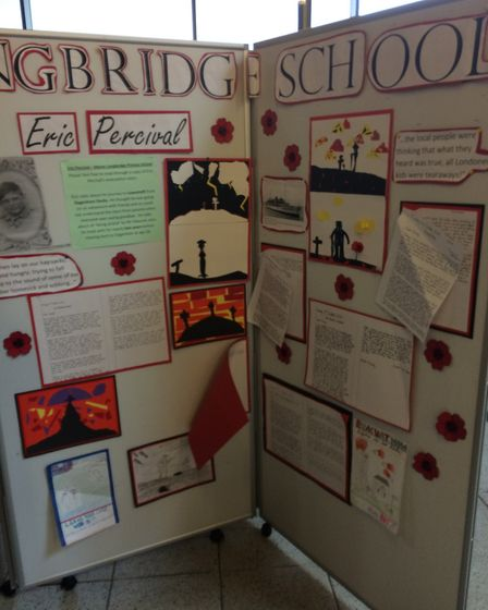 Pupils from schools across Dagenham produced work around the stories of evacuees from the borough. P