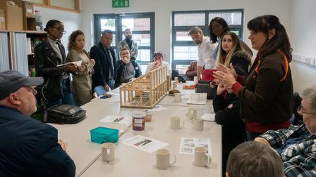 UEL architecture students presenting their design for the Shed Life project in Barking at the beginn