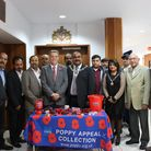 Council leader Cllr Darren Rodwell and mayor of Barking and Dagenham Cllr Peter Chand with members o