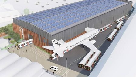 Plans to build a new research laboratory featuring planes, trains and automobiles on old industrial