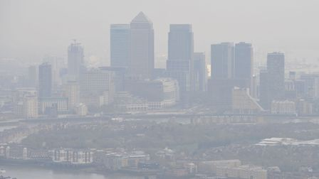 Pollution over London. Picture: Nick Ansell/PA.