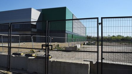 A warehouse on the site for the proposed project. Picture: Ken Mears.