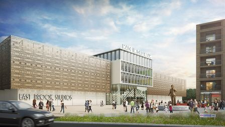 How the new film studios in Dagenham East could look. Picture credit: LBBD