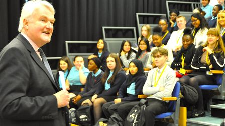 Lord Burnett of Maldon, the Lord Chief Justice of England and Wales, on a visit to Jo Richardson Com
