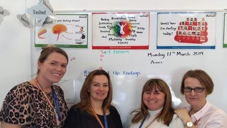 Thomas Arnold Primary School's Thrive team Holly Pottle, Clare Jolly, Julia Kemp and Katie Parks. Pi
