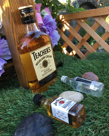 Booze left at David's grave started going missing in June. Picture: Jon King