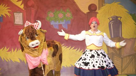 """Daisy the cow performs some solid physical comedy and gets laughs with a couple of well-places """"Moos"""