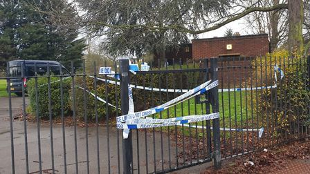 Police cordoned off Greatfields Park. Picture: London 999 Feed / @999London