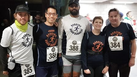 Barking Road Runners at the Chingford League meeting