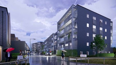 Another CGI view of Samuel Garside House after replacement work. The developer Bellway now has one y