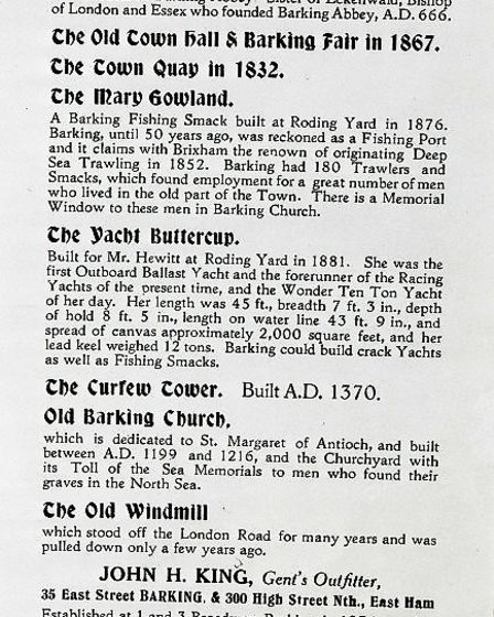 Pageant information from 1931. Picture: Archive and Local Studies Centre, Valence House