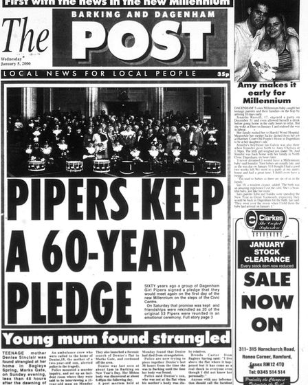 'Pipers keep a 60-year pledge': The Barking & Dagenham Post on January 5, 2000. Picture: Archant / B