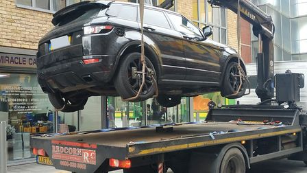 Barking and Dagenham Council arranged for the Range Rover to be taken to the car compound. Picture: