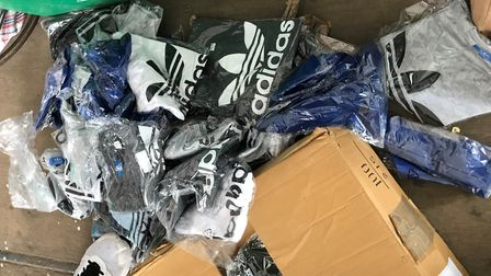 The counterfeit children's clothing seized by the council included 113 items which appeared to be Ad