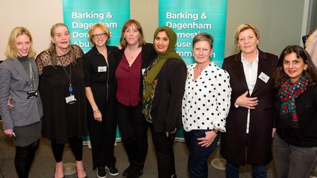 MP Jess Phillips, centre, joined the launch of Barking and Dagenham's domestic violence commission o