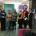 Women helping to run DV Flag East, a programme designed to get domestic abuse victims access to the