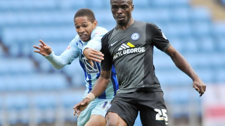 Gabriel Zakuani, who has signed for Dagenham & Redbridge, while at Peterborough. Picture: Tim Parker