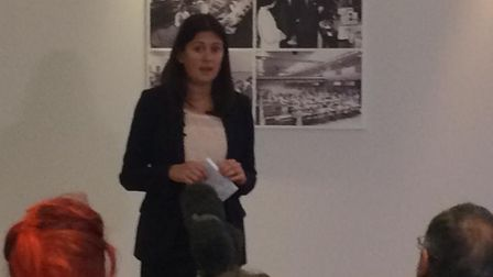 Lisa Nandy launching her Labour leadership campaign in Dagenham. Picture: Sophie Cox