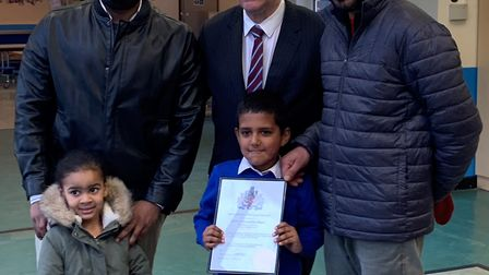 Local hero Artan Mahmood who saved a child from an attack by a dog. Credit Barking and Dagenham coun