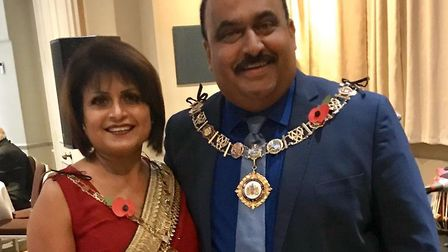 Mayor of Barking and Dagenham, Cllr Peter Chand, and his wife Harjinder have signed up to be communi