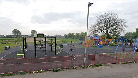 Outdoor gyms and playgrounds, like this one in Valence Park, Dagenham, are closed due to the coronav