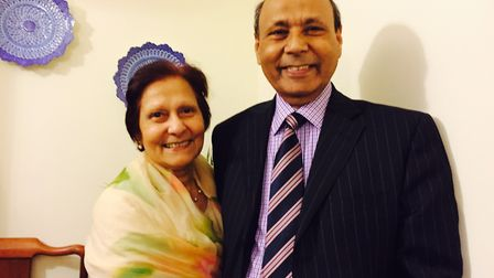Dr Haider pictured with his wife, Sughra, a retired dentist. Picture: Courtesy of the Haider family