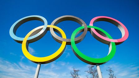 The Olympic Rings at the Queens Elizabeth Park, London